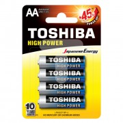 Батарейки алкалиновые Toshiba High Power AA LR6 1,5В 4шт