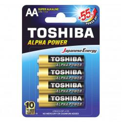Батарейки алкалиновые Toshiba Alpha Power AA LR6 1,5В 4шт