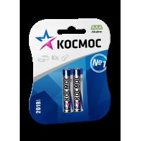 Батарейки алкалиновые Космос AAA LR03 1,5В 2шт