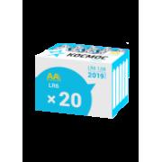 Батарейки алкалиновые Космос АА LR6 1,5В 20шт