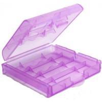 Кейс-бокс для 4-х аккумуляторов AA/AAA фиолетовый