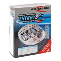 Зарядное устройство Ni-Mh, Ni-Cd Ansmann Energy 8 plus для D, C, AA, AAA, крона 9V