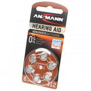 Батарейки для слуховых аппаратов Ansmann 5013233 Hearing Aid 312 PR41