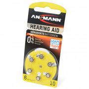 Батарейки для слуховых аппаратов Ansmann 5013223 Hearing Aid 10 PR70