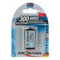 Аккумулятор металлогидридный Ni-MH Ansmann 5035453-RU MaxE LSD E-Block Крона 300 мАч 1,2В 1шт