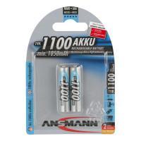 Аккумуляторы металлогидридные Ni-MH Ansmann 5035222 AAA HR03 1100мАч 1,2В 2шт