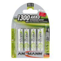 Аккумуляторы металлогидридные Ni-MH Ansmann 5030792 MaxE AA HR6 1300мАч 1,2В 4шт