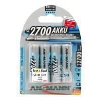 Аккумуляторы металлогидридные Ni-MH Ansmann 5030842-RU AA HR6 2700 мАч 1,2В 4шт