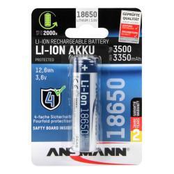 Аккумулятор Li-Ion Ansmann 1307-0001 18650 3500 мАч 3,6В с защитой 1шт