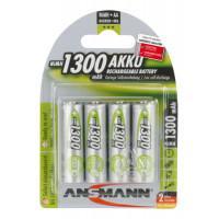 Аккумуляторы металлогидридные Ni-MH Ansmann 5030792-RU MaxE LSD AA HR6 1300 мАч 1,2В 4шт