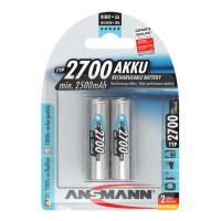 Аккумуляторы металлогидридные Ni-MH Ansmann 5030852-RU AA 2700мАч 1,2В 2шт