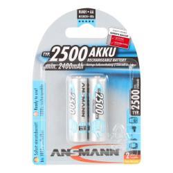 Аккумулятор Ni-MH Ansmann MaxE plus AA 2500мАч 1,2В 2шт