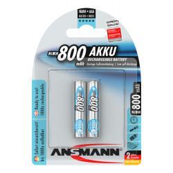 Аккумуляторы металлогидридные Ni-MH Ansmann 5030982-RU maxE AAA 800мАч 1,2В 2шт