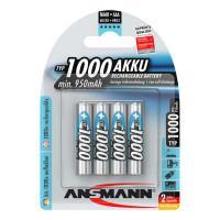 Аккумуляторы металлогидридные Ni-Mh Ansmann 5030882-RU maxE AAA HR03 1000мАч 4шт