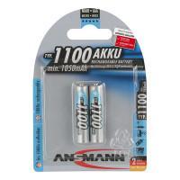 Аккумуляторы металлогидридные Ni-MH Ansmann 5035222-RU AAA HR03 1100мАч 1,2В 2шт