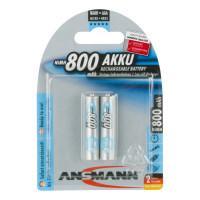 Аккумуляторы металлогидридные Ni-MH Ansmann 5030982 MaxE AAA HR03 800мАч 1,2В 2шт