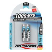 Аккумуляторы металлогидридные Ni-Mh Ansmann 5030892 maxE AAA HR03 1000мАч 2шт