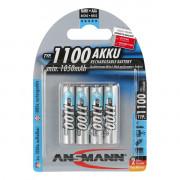 Аккумуляторы металлогидридные Ni-MH Ansmann 5035232-RU AAA HR03 1100мАч 1,2В 4шт