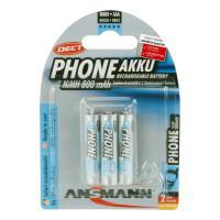 Аккумуляторы металлогидридные Ni-MH Ansmann 5030142 Phone AAA HR03 800 мАч 1,2 В 3шт