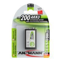 Аккумуляторы металлогидридные Ni-MH Ansmann 5035342-RU MaxE 9V (крона) 200мАч 8.4В