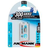 Аккумулятор металлогидридный Ni-Mh Ansmann 5035453 maxE 9V крона 300 мАч 1шт