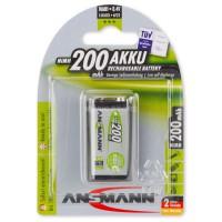 Аккумулятор Ansmann maxE 9V (крона) 200мАч 1шт