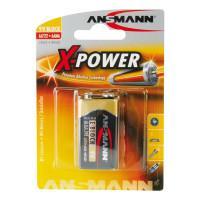Батарейка алкалиновая 550 мАч Ansmann 5015643 X-Power 6LR61 крона 9В 1шт