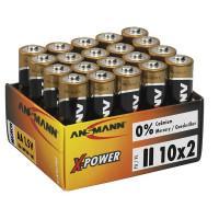 Батарейки алкалиновые 2900 мАч Ansmann 5015731 X-Power AA LR6 20шт