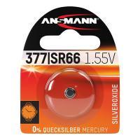 Батарейка в часы Ansmann 1516-0019 377 SR66 1,55В дисковая 1шт