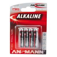Батарейки алкалиновые 1200 мАч Ansmann 5015553 Red AAA LR03 4шт