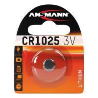 Батарейка таблетка Ansmann 1516-0005 CR1025 3В дисковая литиевая 1шт