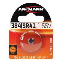 Батарейка в часы Ansmann 1516-0020 384 SR41 1,55В дисковая 1шт