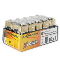 Батарейки алкалиновые 550 мАч Ansmann 5015711 X-Power 6LR61 крона 9В 10шт