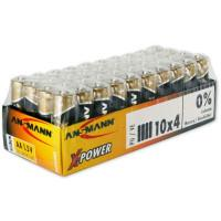 Батарейки алкалиновые 2900 мАч Ansmann 5015681 X-Power AA LR6 40шт