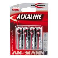 Батарейки алкалиновые 2700 мАч Ansmann 5015563 Red AA LR6 4шт
