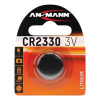 Батарейка таблетка Ansmann CR2330 3В дисковая литиевая 1шт