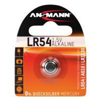 Алкалиновая батарейка Ansmann LR54 AG10 LR1130 389 1,5В дисковая 1шт