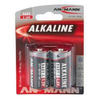 Батарейки алкалиновые 7200 мАч Ansmann 1513-0000 Red C LR14 2шт