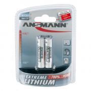 Батарейки литиевые 1200 мАч Ansmann 5021013 Extreme Lithium ААА FR03 2шт