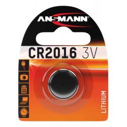 Батарейка литиевая Ansmann CR2016 3В дисковая 1шт