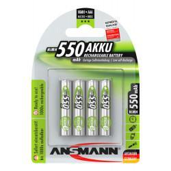 Аккумуляторы металлогидридные Ni-MH Ansmann 5030772-RU maxE AAA 550мАч 1,2В 4шт