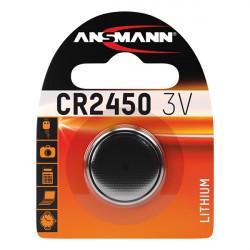 Батарейка таблетка Ansmann CR2450 3В дисковая литиевая 1шт