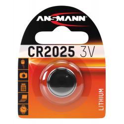 Батарейка литиевая Ansmann CR2025 3В дисковая 1шт