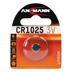 Батарейка литиевая Ansmann CR1025 3В дисковая 1шт