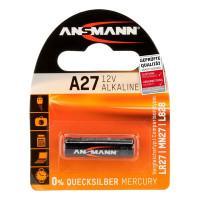 Батарейка алкалиновая Ansmann 1516-0001 A27 LR27 12В специальная 1шт
