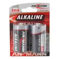 Батарейки алкалиновые 16000 мАч Ansmann 1514-0000 Red D LR20 2шт