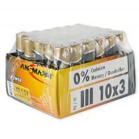 Батарейки алкалиновые 1300 мАч Ansmann 5015721 X-Power AAA LR03 30шт