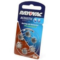 Батарейки для слуховых аппаратов Rayovac Acoustic Special 312