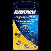 Батарейки для слуховых аппаратов Rayovac Acoustic Special 10