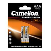 Аккумуляторы Ni-Mh металлогидридные 6182 Camelion NH-AAA1000BP2 ААА 10440 1000 мАч 1.2 В 2шт